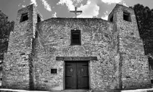 Santa Maria de Acoma Mission, Acoma Indian Pueblo, New Mexico, July 8, 2016.