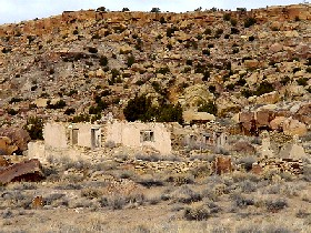 Route 66 ruins west of the Laguna Pueblo