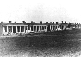 Fort Union Officer's Quarters, 1870's.