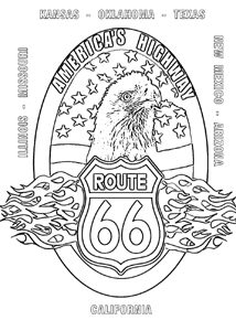 Route Colouring Pages Sketch Coloring Page Route 66 Coloring Pages