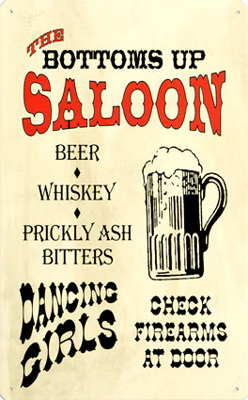 Saloon Style Nostalgic Tin Signs
