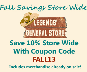 Legends' General Store Fall Sale - Save 10% on Everything
