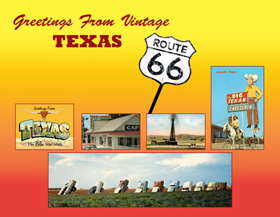 Greetiings From vintage Texas Route 66