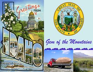 Idaho Custom Postcard by Legends of America
