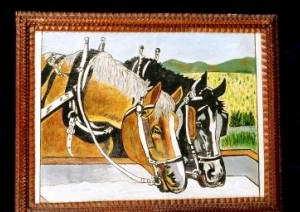 Fred Lambert Horses Painting