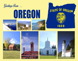 Greetings From Oregon Custom Postcard