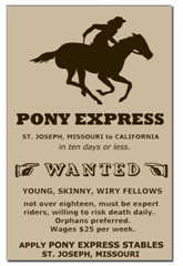 Pony Express Wanted Poster