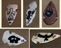 Hand Knapped, hand-painted Apache Arrowhead.
