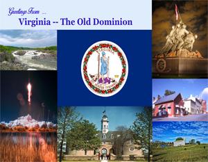 Greetings From Virginia Custom Postcard