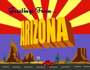 Arizona Greetings Custom Postcard by Legends of America