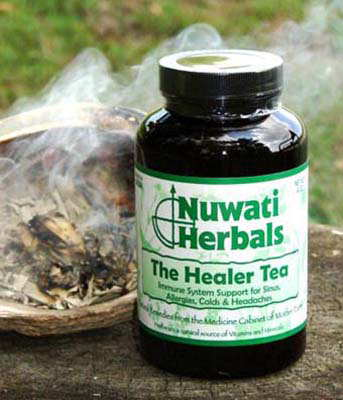 Nuwati Healer Tea for Sinuses, Colds, Headache, Allergies, and Immune System