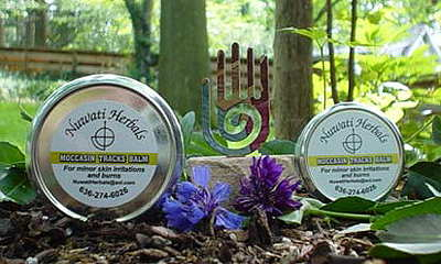 Moccasin Tracks Balm - For skin irritations, burns, poison ivy, insect bites, sunburn, and gum irritations