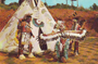 Oklahoma Indians Postcard