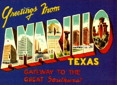 Greetings From Amarillo Postcard