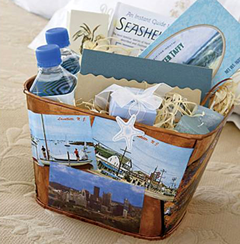 Beach Wedding Gift Basket Ideas : ... onto a wooden or tin basket, photo courtesy Elizabeth Anne Designs