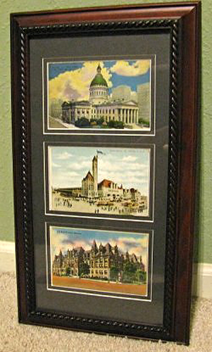 professional framed postcards