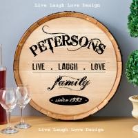 Real Oak Wine Barrel Sign from Legends' General Store