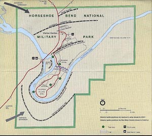 Map of the Battle of Horseshoe Bend, National Park Service