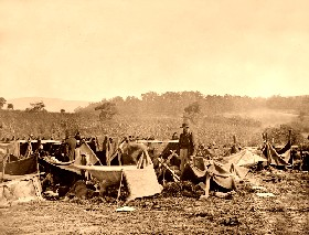 Caring for the wounded at Antietam, 1862.