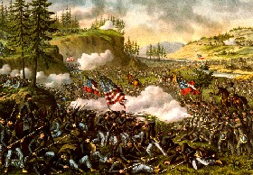 Battle of Chicamauga, Georgia in the Civil War