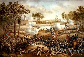 Battle of Cold Harbor, Virginia, by Kurz & Allison, 1888