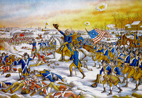 George Washington at the Battle of Princeton