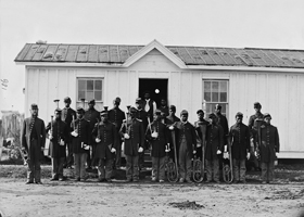 /Black Infantry at Fort Corcoran, VA, 1865