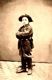A boy soldier in the Civil War