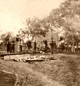 Burial of Union dead at Fredericksburg, Virginia