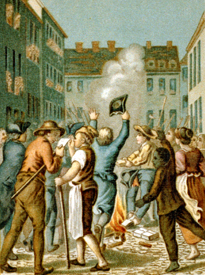 Burning of the stamp act