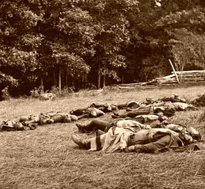 Confederate dead at Gettysburg, Pennsylvania