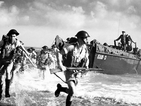 D-Day Invasion during World War II.