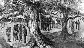 Lynching of 41 suspected Unionists in Gainesville, Texas