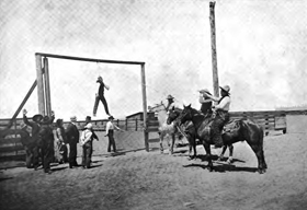 Hanging of a horse thief