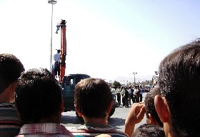 A public hanging in Iran.