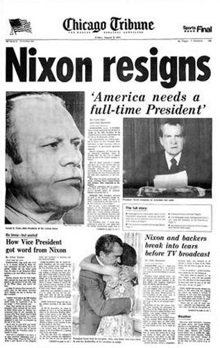 the resignation of president richard nixon essay The resignation of president richard nixon essay 1371 words 6 pages legal  brief/background during the year of 1972, a case submerged that shook the.