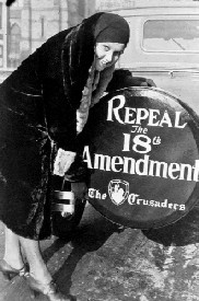 Woman works to repeal the 18th Amendment