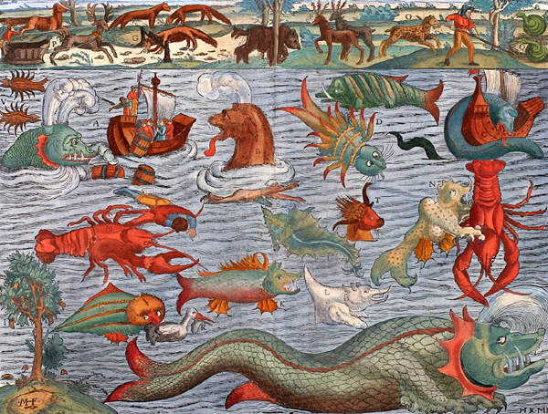 monsters and sea serpents by charles m skinner 1896