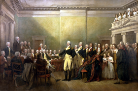 George Washington resigns his commission