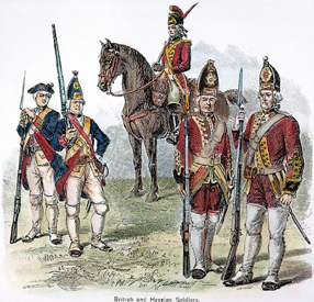 British and Hessian Soldiers