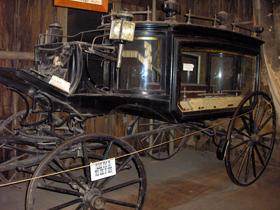 Black Moriah hearse at the Bird Cage Theatre