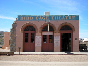 The Bird Cage Theatre in Tombstone, Arizona today