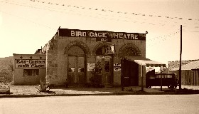The Birdcage Theater in Tombstone, Arizona, 1933