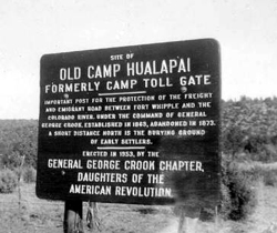 Camp Hualapai Marker