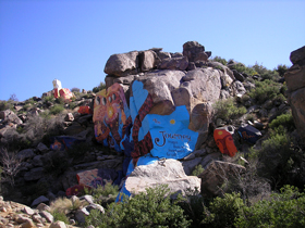 Chloride, Arizona rock murals