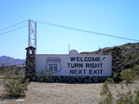 Colorado River Historic 66 Sign
