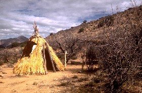Apache Wickiup at Fort Bowie.
