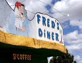 Fred's Diner at Bedrock City, Arizona