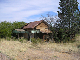 A crumbling house in Gleeson, Arizona