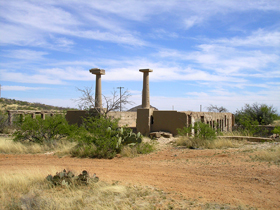 The ruins of Gleeson, Arizona School